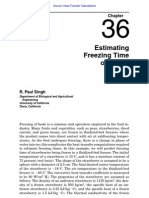 Estimating Freezing Time for Foods