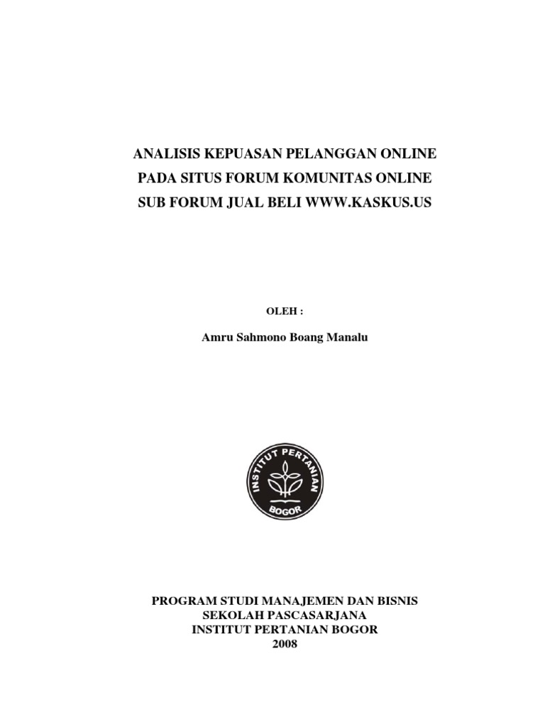 Master thesis on customer service