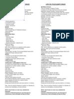 Lista de Utiles Quinto 2012