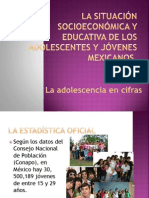 La situación socioeconómica y educativa de los adolescentes