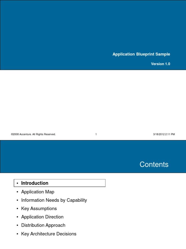 Application blueprint sample enterprise resource planning oracle application blueprint sample enterprise resource planning oracle corporation malvernweather Images