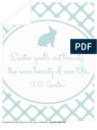 Easter Print Pale Blue