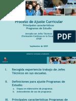 Presentación Ajuste Programas 280909
