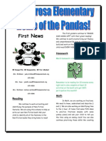 First Grade News March 16th