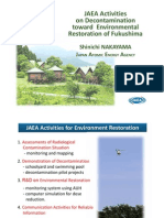 JAEA Report on Progress of Decontamination Efforts after Fukushima Daiichi Nuclear Disaster