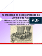 09 - O processo de descolonização da Ásia e da África (resumido)