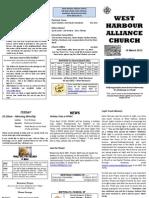 Church Newsletter - 18 March 2012(a)