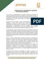 CARE PERU COMPROMETIDO CON LA TRANSPARENCIA Y RENDICIÓN DE CUENTAS EN AYACUCHO