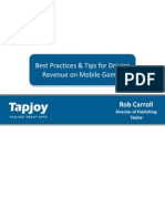 Tapjoy Mobile Revenue Best Practices