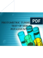 Photo Metric Turbidimetric Test of Serum Potassium Ions