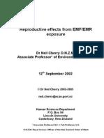 Prenatal effects of microwave exposure (Review).