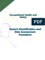 Risk Assessment Procedure