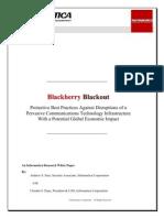 a Blackberry Blackout