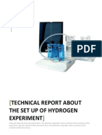 Technical Report of Hydrogen Experiment