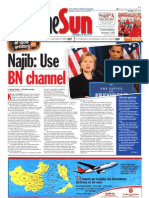 TheSun 2008-12-02 Page01 Najib Use BN Channel
