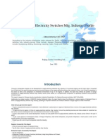 China Supply Electricity Switches Mfg. Industry Profile Cic3923