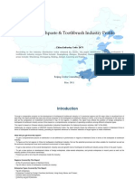 China Toothpaste Toothbrush Industry Profile Cic2673
