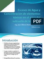 01 Escasez de Agua y Concentración de elementos tóxicos