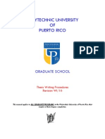 Thesis Writing Procedures - edición WI-10
