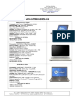 Precios Al 26 de Enero 2012 - Laptops