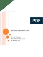The Teaching Teacher Resolution Drafting by Mr. Hamilton Macagne