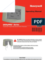 Thermostat Operation Manual