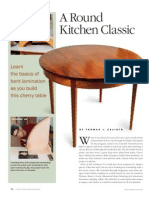 A Round Kitchen Classic - Bent Laminated Cherry Table