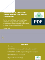 Copyright And The Legal Environment For Digital Publishing :