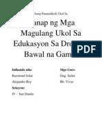 thesis tungkol sa paggamit ng bawal na gamot