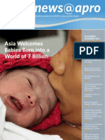 November-December 2011, Asia Welcomes  Babies Born into a  World of 7 Billion