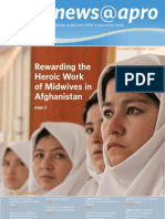 January-February 2012, Rewarding the  Heroic Work  of Midwives in  Afghanistan