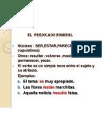EL PREDICADO II
