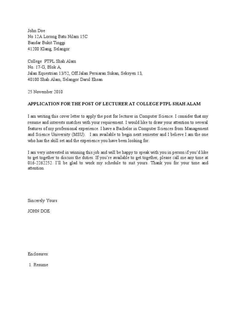 Contoh Cover Letter Dan Resume Digital Social Media Digital