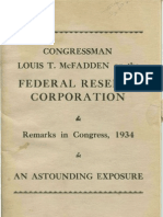 Congressman Louis T. McFadden on the Federal Reserve Corporation