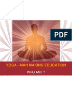 YOGA –MAN MAKING EDUCATION
