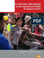 Socio-Cultural Influences on the Reproductive Health of Migrant Women (A Review of Literature in Viet Nam)
