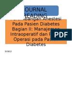 an Anestesi Pada Pasien Diabetes