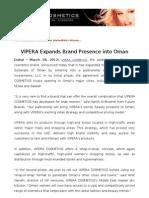 VIPERA Expands Brand Presence into Oman