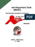 Maac Arft Rules