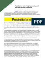 Massimo Sarmi, Poste Italiane leader tra gli operatori postali europei nella riduzione di gas serra