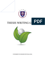 Thesis Writing Guide 2011