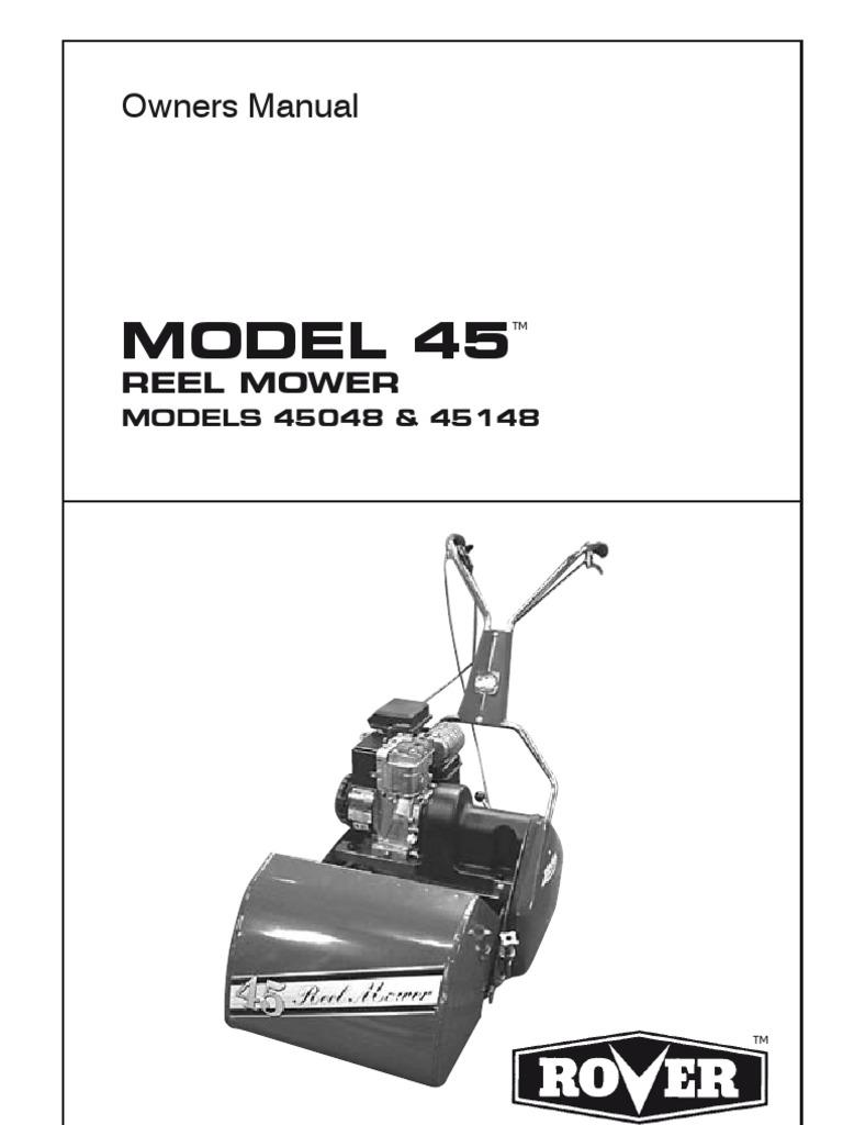 scott bonnar 45 owners manual s1942892 i 11 mower clutch rh scribd com Lawn Mower Manual Reel Mower Troubleshooting