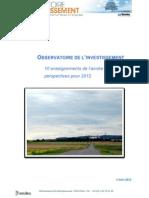 Trendeo - 2011 à travers l'Observatoire de l'investissement