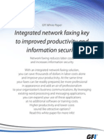 Integrated Network Faxing is key to Improved Productivity and InformationSecurity