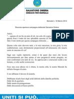 Discorso Apertura Campagna Elettorale Salvatore Ombra.doc..