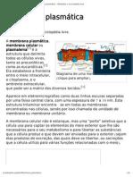 Membrana plasmática – Wikipédia, a enciclopédia livre