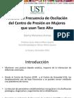 Análisis de Frecuencia de Oscilación del Centro de