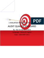 Audit Quality Standard Dorg