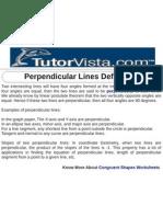 Perpendicular Lines Definition
