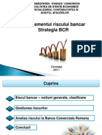 Managementul Riscului Bancar. Strategia BCR